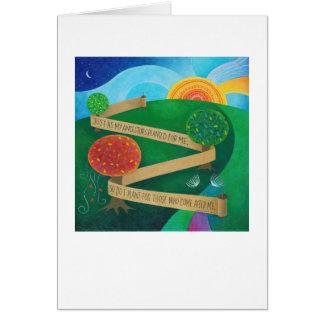 Plantando o cartão de nota de Torah