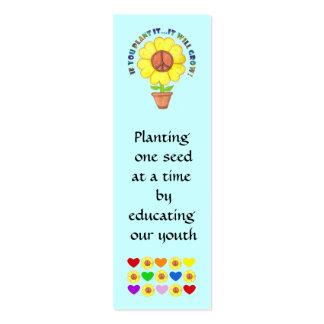 Plantando o marcador da paz cartões de visita