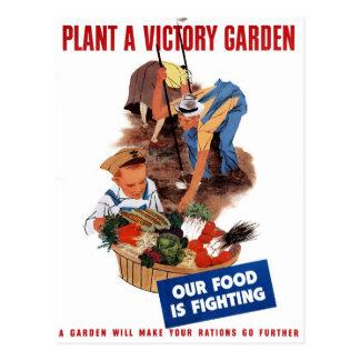 """""""Plante cartão de um jardim de vitória"""""""