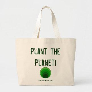 Plante o planeta! planttheplanetstuff.com bolsa de lona