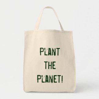Plante o planeta! sacola tote de mercado