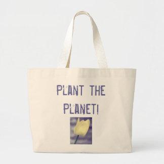 Plante o planeta! sacola tote jumbo