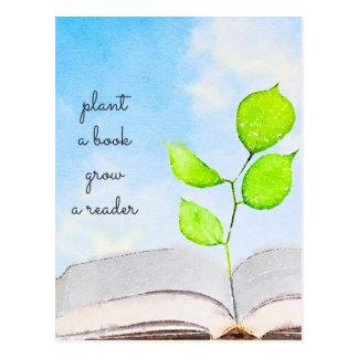 Plante um cartão do livro