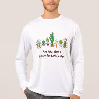 plante um jardim para a camiseta da causa da terra