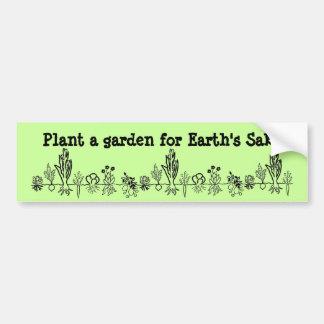 Plante um jardim para o autocolante no vidro trase adesivo para carro