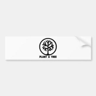 Plante um TShirt da árvore Adesivo Para Carro