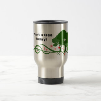Plante uma árvore hoje! caneca térmica