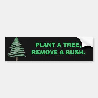 Plante uma árvore, remova um arbusto adesivo para carro