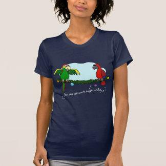 Plataforma a camisa escura do papagaio T dos salõe Tshirt