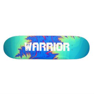 Plataforma abstrata do skate da letra do guerreiro