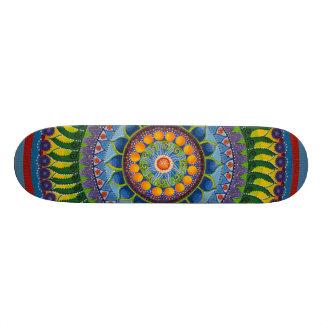 Plataforma amarela & azul do skate da mandala #1
