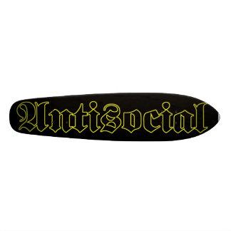 Plataforma anti-social da velha escola skate personalizado