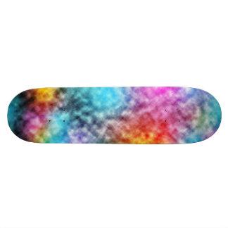 Plataforma colorida do skate da tintura do laço