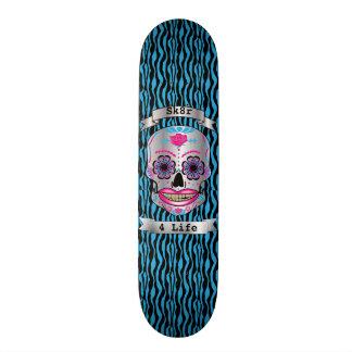 Plataforma cor-de-rosa do crânio dos doces da shape de skate 20cm