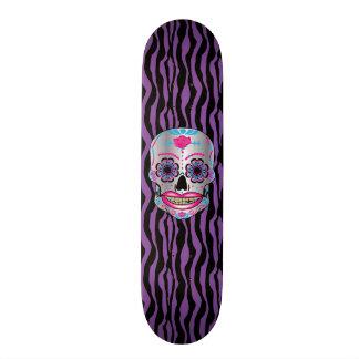 Plataforma cor-de-rosa do crânio dos doces do shape de skate 19,7cm