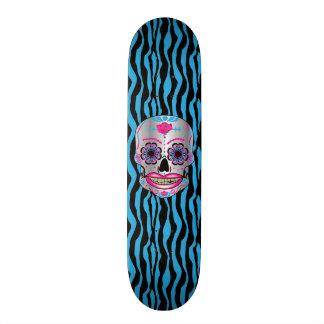 Plataforma cor-de-rosa do crânio dos doces do shape de skate 20,6cm