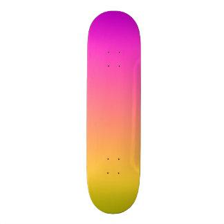 Plataforma cor-de-rosa e amarela da insinuação do shape de skate 19,7cm