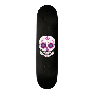 Plataforma cor-de-rosa preta feita sob encomenda shape de skate 20,6cm