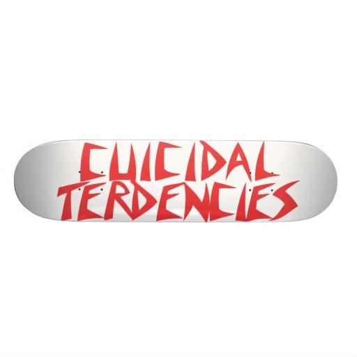 Plataforma da equipe de Cuicidal Terdencies Skate