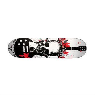 Plataforma da guitarra do crânio skate personalizado