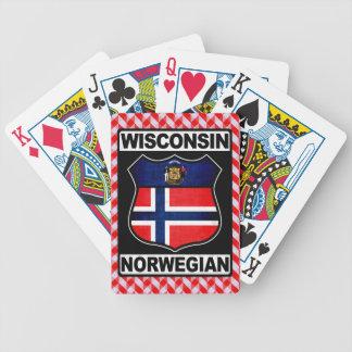 Plataforma de cartão americana norueguesa de carta de baralho
