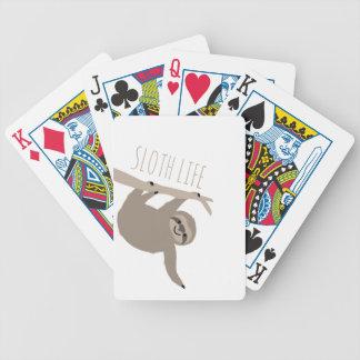 Plataforma de cartão da vida da preguiça baralhos de poker