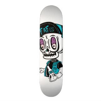 Plataforma do branco de Skullbrains Shape De Skate 18,7cm
