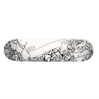Plataforma do estilo do tatuagem shape de skate 20,6cm