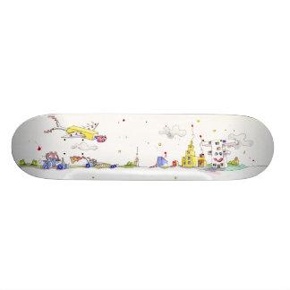 Plataforma do skate da cidade dos miúdos