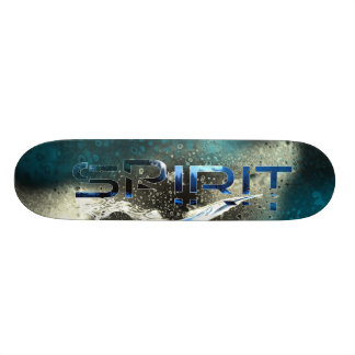Plataforma do skate do azul de gelo do espírito