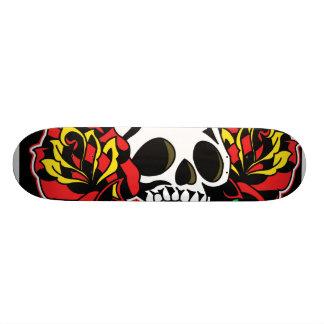 plataforma do tatuagem do crânio shape de skate 21,6cm