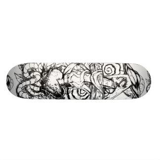 Plataforma do tatuagem shape de skate 18,7cm