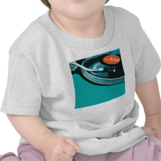 Plataforma giratória da música do vinil t-shirt