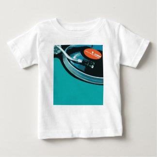 Plataforma giratória da música do vinil camiseta para bebê