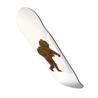 Plataforma minimalista do skate do design do