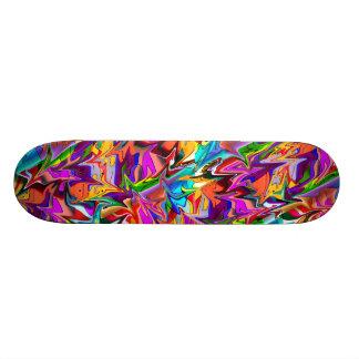 Plataforma multicolorido psicadélico Trippy do Shape De Skate 19,7cm