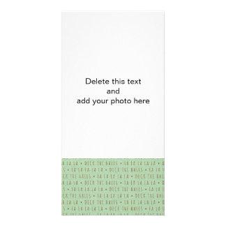 Plataforma o teste padrão do feriado dos salões cartao com fotos personalizado