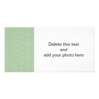 Plataforma o teste padrão do feriado dos salões cartão com foto