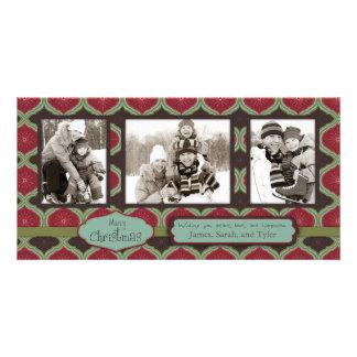 Plataforma o trio do cartão com fotos dos salões