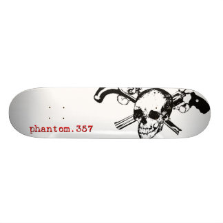 Plataforma original do logotipo do crânio Phantom. Skateboard