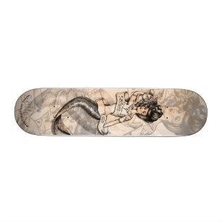 Plataforma tattooed velha escola da sereia da ruín shape de skate 19,7cm