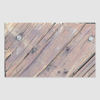 Plataforma Textured áspera de madeira resistida Adesivo Retangular