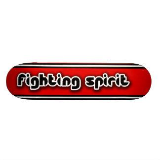 Plataforma vermelha do skate do espírito de luta