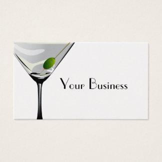 Platina do cartão de visita do cocktail de Martini