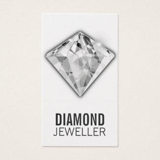Platina do diamante dos cartões de visitas da jóia