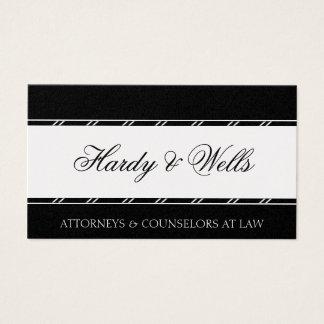 Platina legal do conselheiro do advogado do cartão de visitas