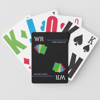 playin preto do póquer-clube cartas de baralhos