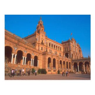 Plaza de Espana em Sevilha, Spain. Cartão Postal