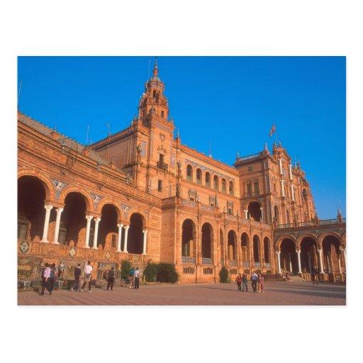 Plaza de Espana em Sevilha, Spain. Cartões Postais