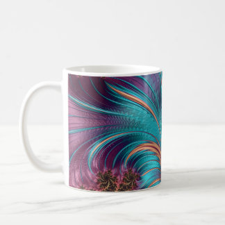 Plissado caneca de café da arte do Fractal de